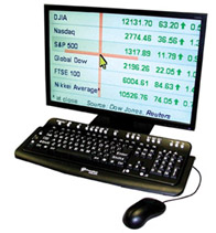 MAGic Large Print Keyboard with monitor