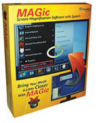 MAGic computer screen magnification software